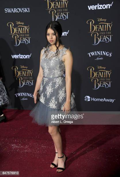 Actress Amber Midthunder arrives for the Premiere Of Disney's Beauty And The Beast held at El Capitan Theatre on March 2 2017 in Los Angeles...