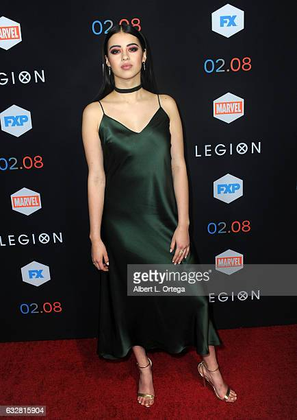 Actress Amber Midthunder arrives for the Premiere Of FX's Legion held at Pacific Design Center on January 26 2017 in West Hollywood California