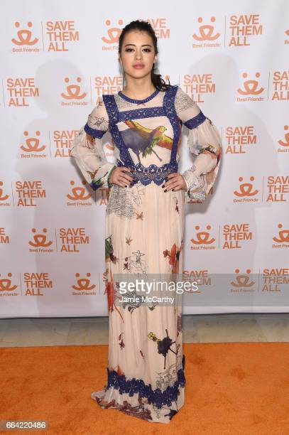 Actress Amber Midthunder attends the 2017 Best Friends Benefit To Save Them All on April 3 2017 in New York City