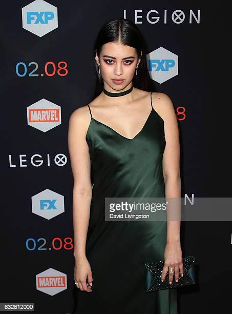 Actress Amber Midthunder attends the premiere of FX's Legion at Pacific Design Center on January 26 2017 in West Hollywood California