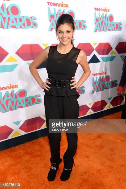 Actress Amber Montana arrives at the 5th Annual TeenNick HALO Awards at Hollywood Palladium on November 17 2013 in Hollywood California