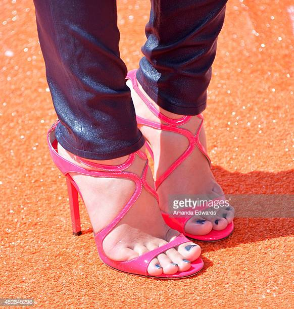 Actress Amber Montana arrives at the Nickelodeon Kids' Choice Sports Awards 2014 on July 17 2014 in Los Angeles California