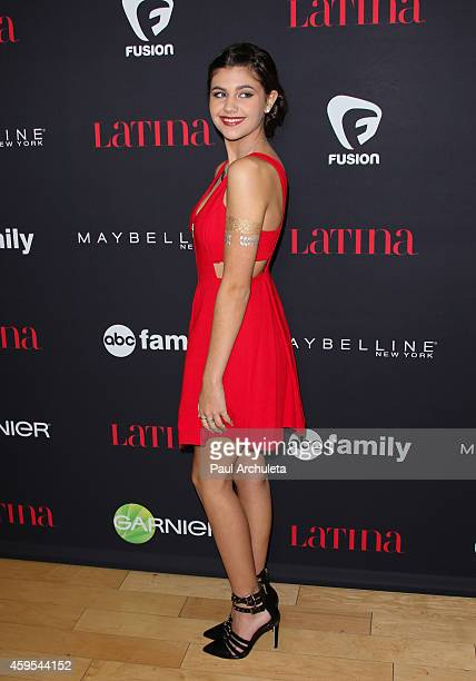 Actress Amber Montana attends Latina Magazine's '30 Under 30' celebration at SkyBar at the Mondrian Los Angeles on November 13 2014 in West Hollywood...