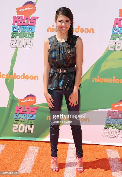 Actress Amber Montana attends the 2014 Nickelodeon Kids' Choice Sports Awards at Pauley Pavilion on July 17 2014 in Los Angeles California