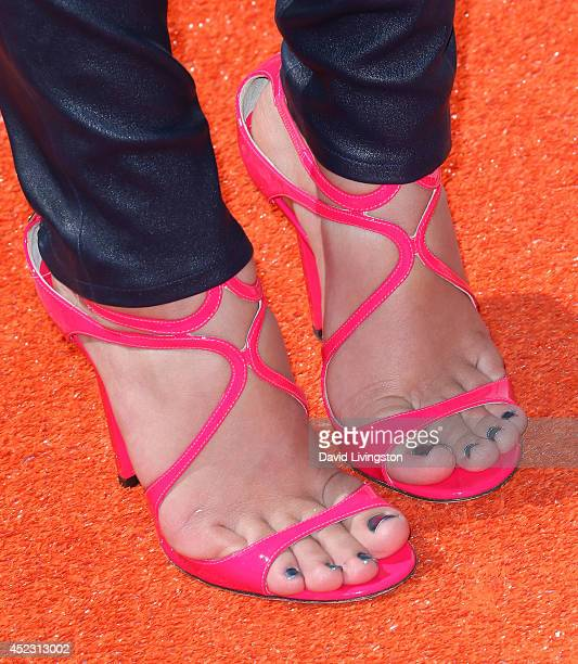 Actress Amber Montana attends the Nickelodeon Kids' Choice Sports Awards 2014 at Pauley Pavilion on July 17 2014 in Los Angeles California