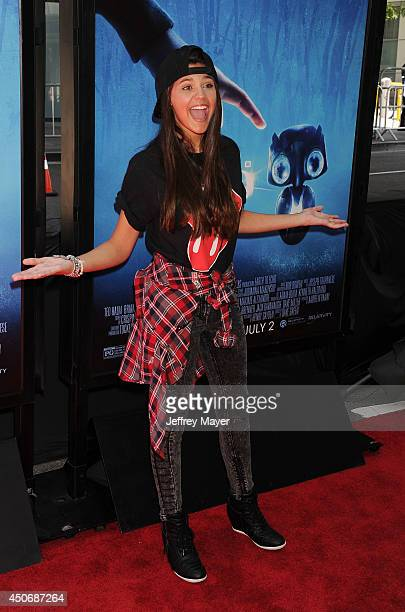 Actress Amber Montana attends the premiere of 'Earth to Echo' during the 2014 Los Angeles Film Festival at Regal Cinemas LA Live on June 14 2014 in...
