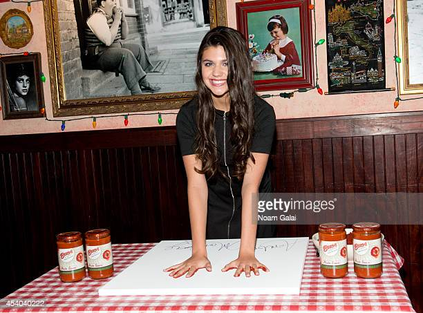 Actress Amber Montana visits Buca di Beppo Times Square on August 23 2014 in New York City