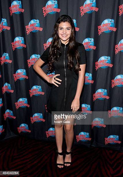 Actress Amber Montana visits Planet Hollywood Times Square on August 23 2014 in New York City