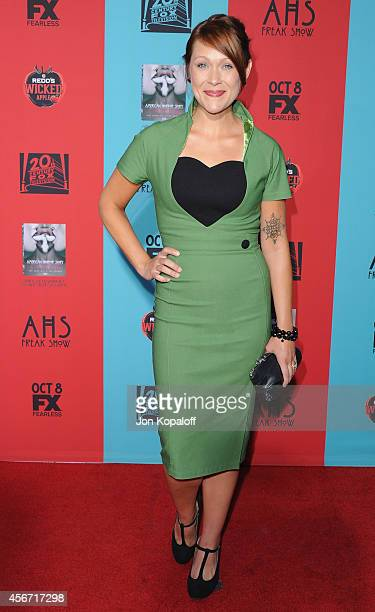 Actress Amber Nash arrives at the Los Angeles Premiere 'American Horror Story Freak Show' at TCL Chinese Theatre IMAX on October 5 2014 in Hollywood...
