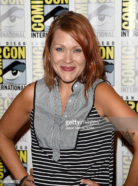 Actress Amber Nash attends 'Archer' Press Room during ComicCon International 2015 at Hilton Bayfront on July 10 2015 in San Diego California