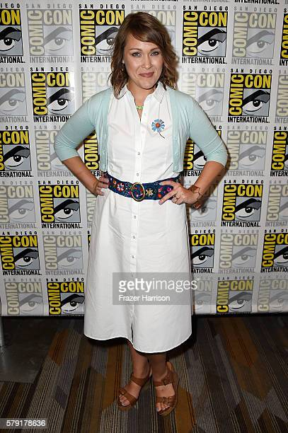 Actress Amber Nash attends FX's 'Archer' Press Line during ComicCon International 2016 at Hilton Bayfront on July 22 2016 in San Diego California