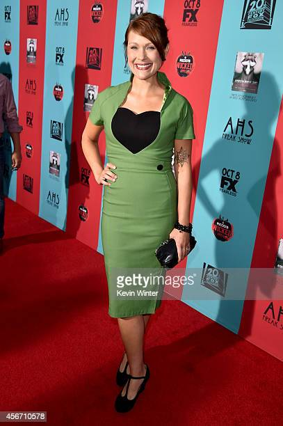 Actress Amber Nash attends the premiere screening of FX's 'American Horror Story Freak Show' at TCL Chinese Theatre on October 5 2014 in Hollywood...