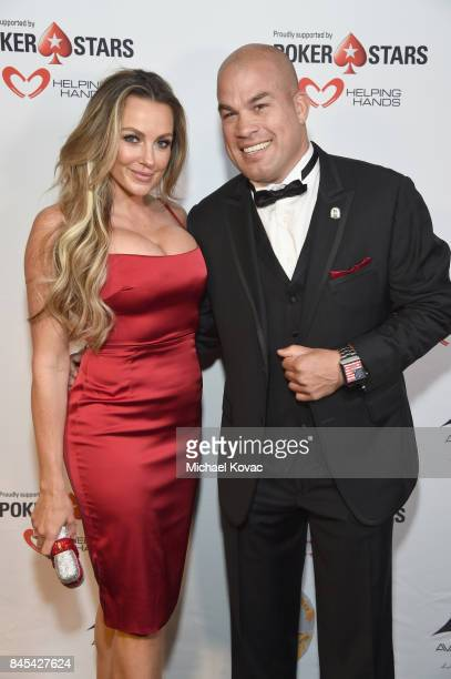 Actress Amber Nichole Miller and MMA fighter Tito Ortiz at the Heroes for Heroes Los Angeles Police Memorial Foundation Celebrity Poker Tournament at...