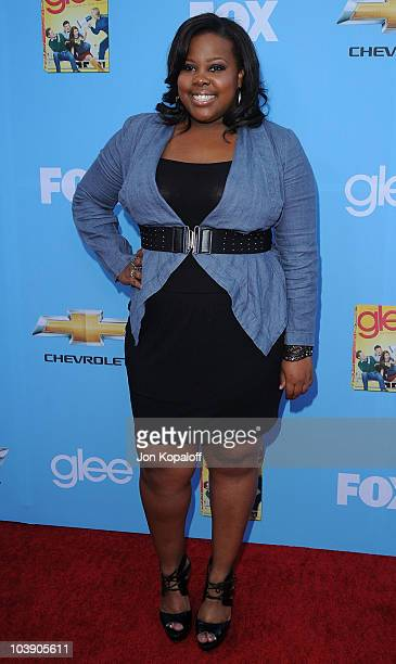 Actress Amber Riley arrives at 'Glee' Season 2 Premiere Screening And Party at Paramount Studios on September 7 2010 in Hollywood California