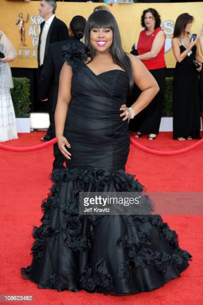 Actress Amber Riley arrives at the 17th Annual Screen Actors Guild Awards held at The Shrine Auditorium on January 30 2011 in Los Angeles California