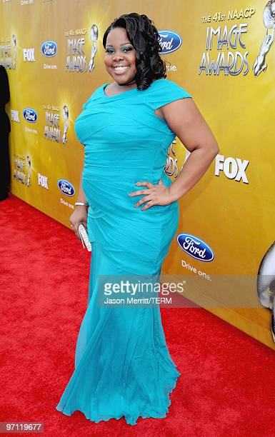 Actress Amber Riley arrives at the 41st NAACP Image awards held at The Shrine Auditorium on February 26 2010 in Los Angeles California