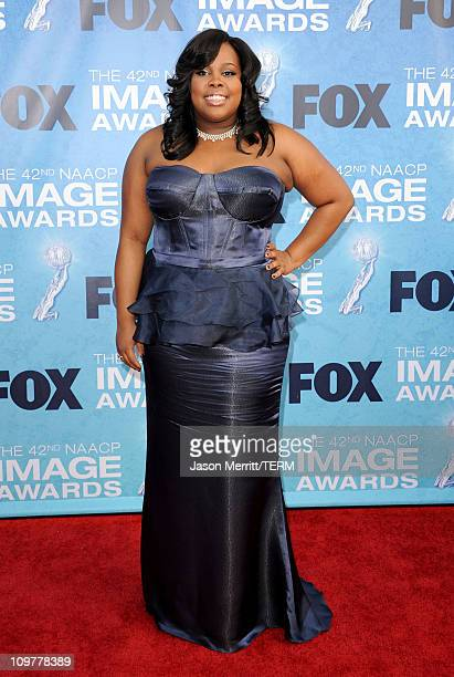Actress Amber Riley arrives at the 42nd NAACP Image Awards held at The Shrine Auditorium on March 4 2011 in Los Angeles California