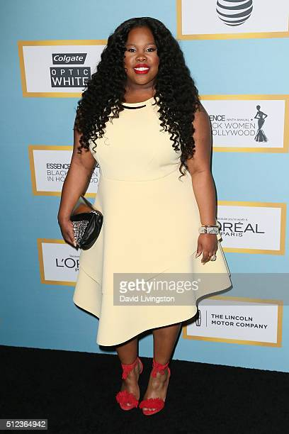 Actress Amber Riley arrives at the Essence 9th Annual Black Women event in Hollywood at the Beverly Wilshire Four Seasons Hotel on February 25 2016...