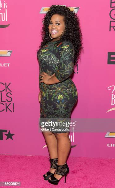 Actress Amber Riley attends Black Girls Rock 2013 at New Jersey Performing Arts Center on October 26 2013 in Newark New Jersey