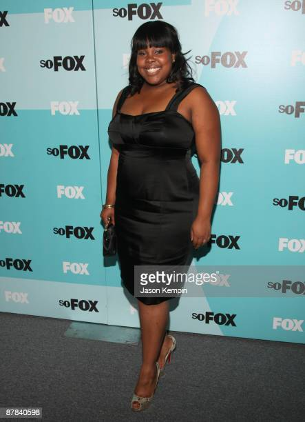 Actress Amber Riley attends the 2009 FOX UpFront after party at the Wollman Rink in Central Park on May 18 2009 in New York City