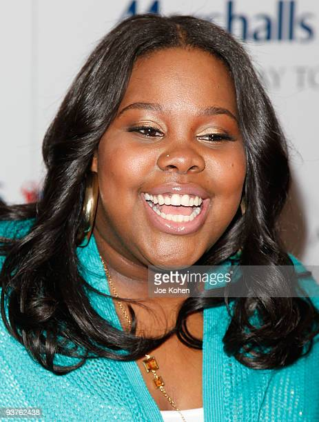 Actress Amber Riley attends the CarolOke Contest at Bryant Park on December 3 2009 in New York City