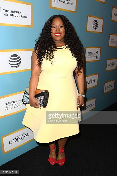 Actress Amber Riley attends the Essence 9th Annual Black Women In Hollywood at the Beverly Wilshire Four Seasons Hotel on February 25 2016 in Beverly...