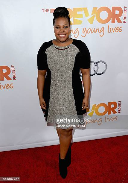 Actress Amber Riley attends 'TrevorLIVE LA' honoring Jane Lynch and Toyota for the Trevor Project at Hollywood Palladium on December 8 2013 in...