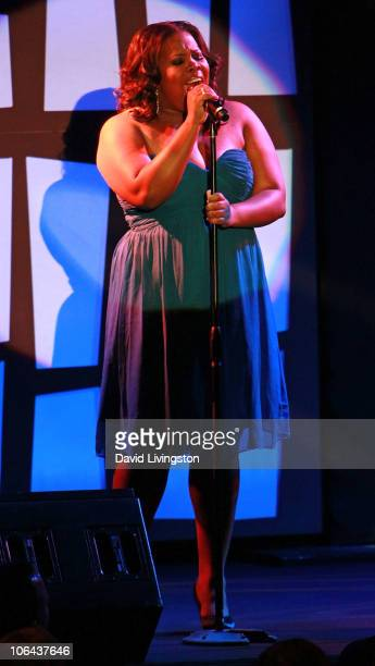 Actress Amber Riley performs on stage at the Annual STARS 2010 Benefit Gala at the Beverly Hilton Hotel on November 1 2010 in Beverly Hills California