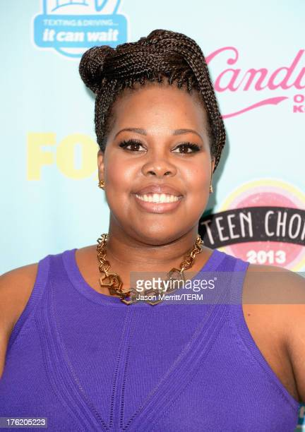 Actress Amber Riley winner of Choice TV Show Comedy for 'Glee' attends the Teen Choice Awards 2013 at Gibson Amphitheatre on August 11 2013 in...