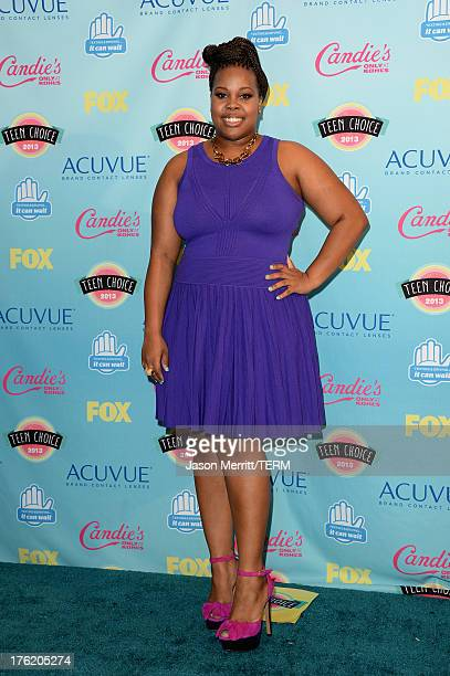 Actress Amber Riley winner of Choice TV Show Comedy for Glee attends the Teen Choice Awards 2013 at Gibson Amphitheatre on August 11 2013 in...