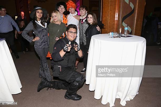 Actress Amber Romero actor Joey Luthman actor Chad Roberts and actor SeanRyan Petersen attend Starlight's Dream Halloween 2016 on October 22 2016 in...