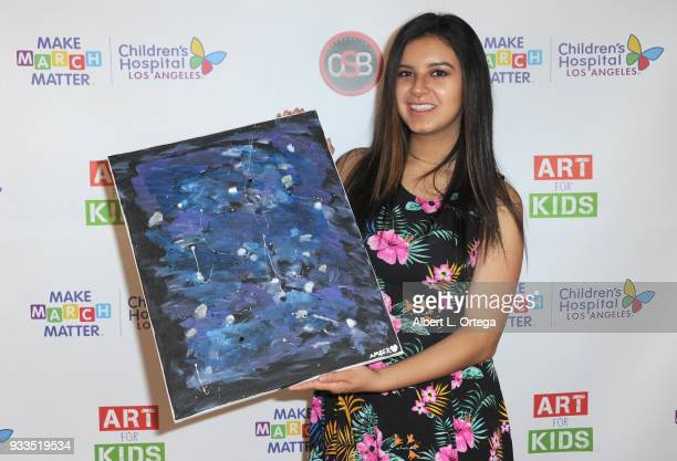 Actress Amber Romero attends Art For Kids And The Cast Of USA Networks' 'The Secret Lives Of Kids' Create Art To Benefit Children's Hospital Of Los...