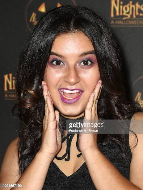 Actress Amber Romero attends Nights of the Jack Halloween Activation Launch Party at the King Gillette Ranch on October 10 2018 in Calabasas...