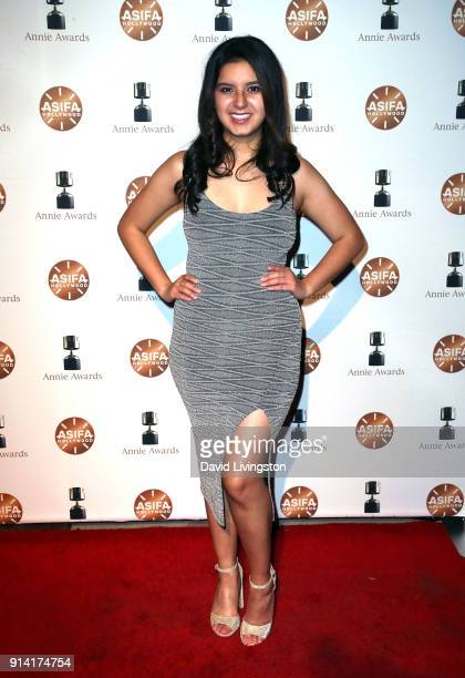 Actress Amber Romero attends the 45th Annual Annie Awards at Royce Hall on February 3 2018 in Los Angeles California