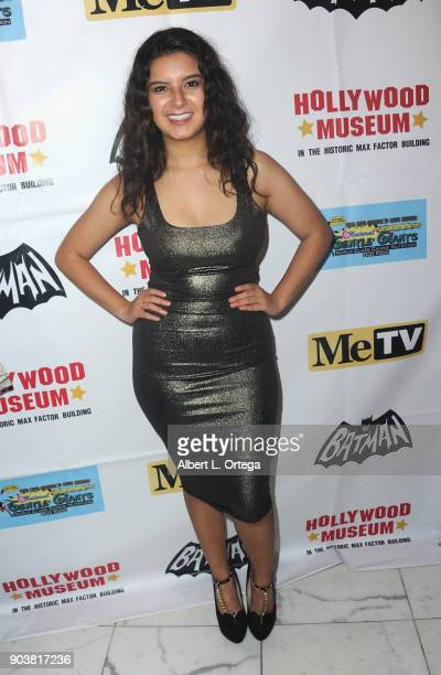 Actress Amber Romero attends The Batman '66 Exhibit Opening held at The Hollywood Museum on January 10 2018 in Hollywood California