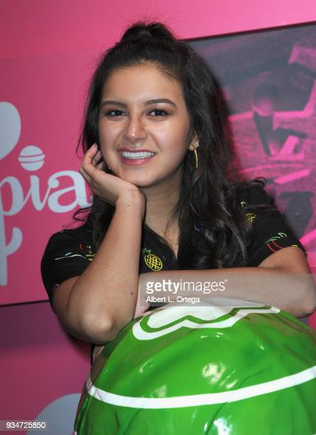 Actress Amber Romero participates in Talent Day At Candytopia held at Santa Monica Place on March 18 2018 in Santa Monica California