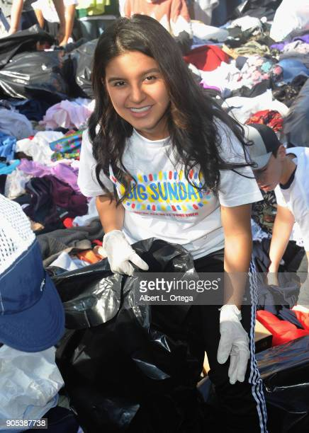 Actress Amber Romero participates in the 6th Annual Martin Luther King Jr Day Clothing Collection And Community Breakfast held on January 15 2018 in...