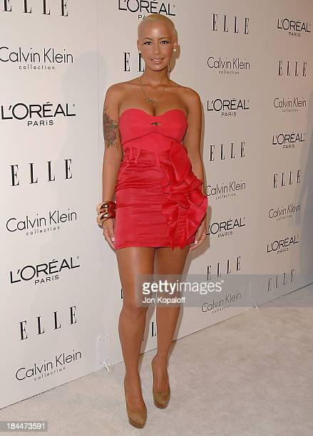 Actress Amber Rose arrives at ELLE's 16th Annual Women In Hollywood Event at the Four Seasons Hotel on October 19, 2009 in Beverly Hills, California.