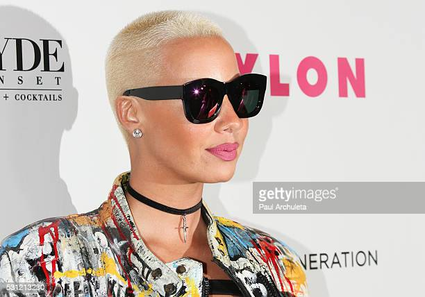 Actress Amber Rose attends NYLON Magazine's annual Young Hollywood May issue event at HYDE Sunset Kitchen Cocktails on May 12 2016 in West Hollywood...