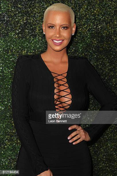 Actress Amber Rose attends the All Def Movie Awards Arrivals at TCL Chinese 6 Theatres on February 24 2016 in Hollywood California