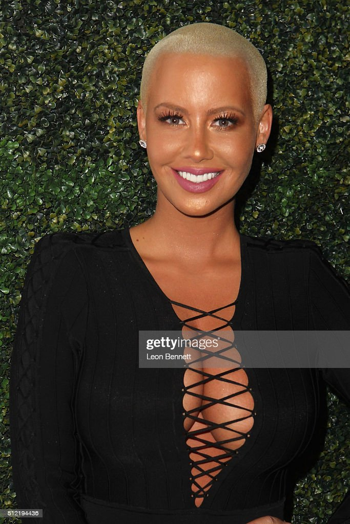 Actress Amber Rose attends the All Def Movie Awards - Arrivals at TCL Chinese 6 Theatres on February 24, 2016 in Hollywood, California.