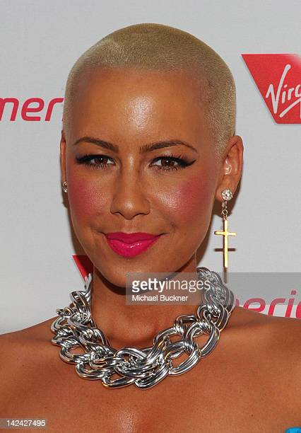 Actress Amber Rose attends the Launch Party for Virgin America's First Flight from Los Angeles to Philadelphia at the Hotel Palomar on April 4, 2012...