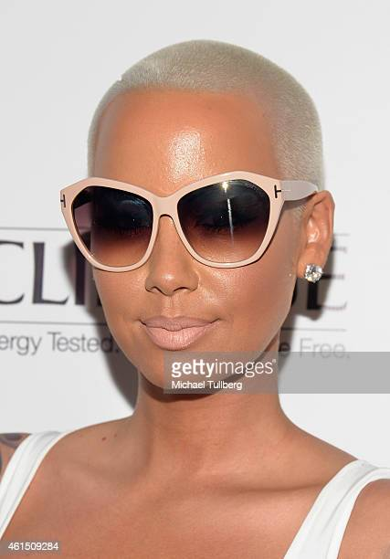 Actress Amber Rose attends the release party for Meghan Trainor's debut album 'Title' at Warwick on January 13 2015 in Hollywood California