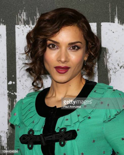 Actress Amber Rose Revah attends Marvel's 'The Punisher' Los Angeles premiere at the ArcLight Hollywood on January 14 2019 in Hollywood California