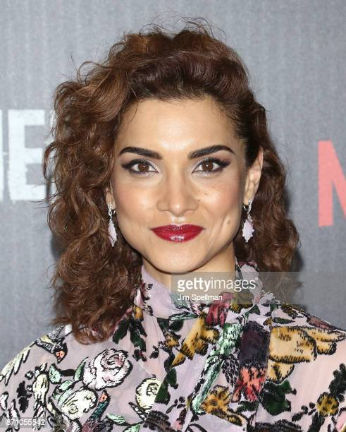 Actress Amber Rose Revah attends the 'Marvel's The Punisher' New York premiere at AMC Loews 34th Street 14 theater on November 6 2017 in New York City