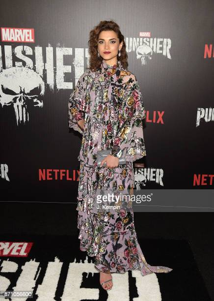 Actress Amber Rose Revah attends the 'Marvel's The Punisher' New York Premiere on November 6 2017 in New York City