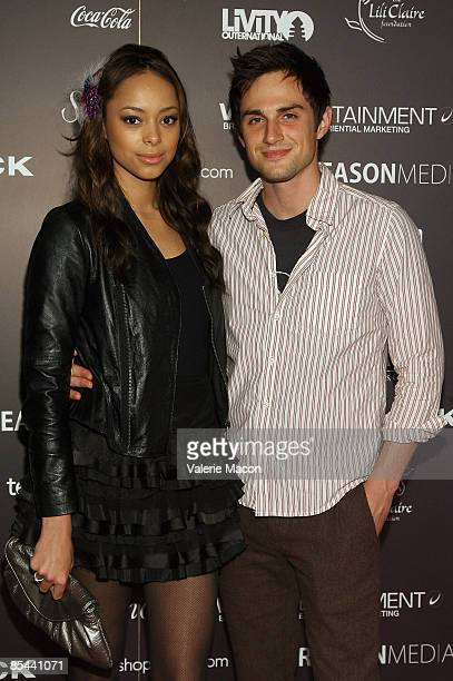 Actress Amber Stevens and actor Andrew James West attends the BOXeight Fashion week Day 3 at the Los Angeles Theater on March 15 2009 in Los Angeles...