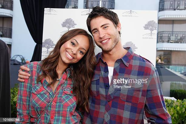 Actress Amber Stevens and actor Bryan Fisher attend GBK's Gift Lounge in Honor of the 2010 MTV Movie Awards Day 2 at The London Hotel on June 5 2010...