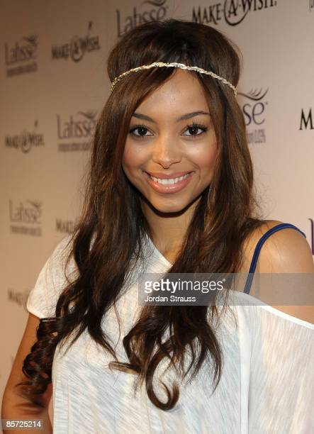 Actress Amber Stevens arrives at the Launch Party for LATISSE on March 26 2009 in Los Angeles California