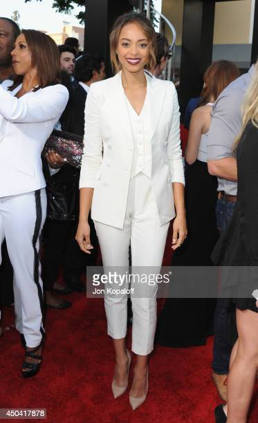Actress Amber Stevens arrives at the Los Angeles Premiere 22 Jump Street at Regency Village Theatre on June 10 2014 in Westwood California